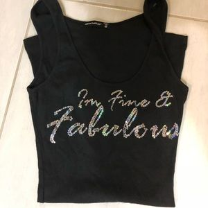 Tops - Black tank top with sequins